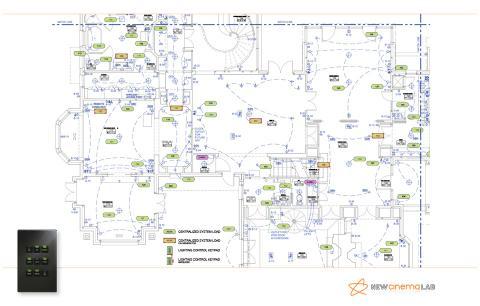 План расположения осветительных приборов и управления